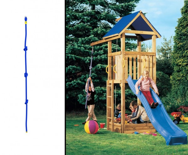 Kletterseil mit 3 Knoten für Spielturm, 200cm
