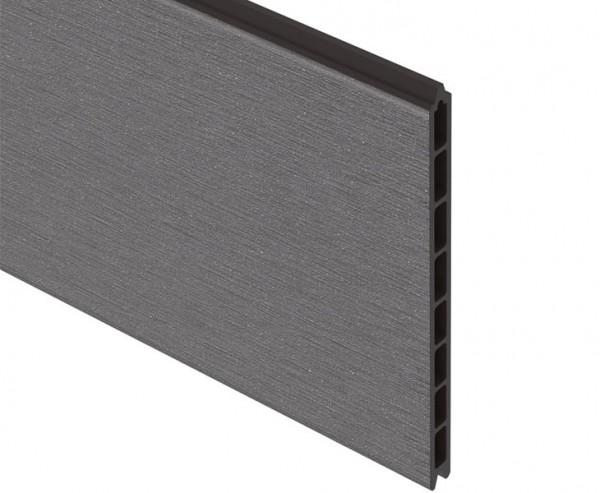 Sichtschutz System XL WPC grau Einzelprofil anthrazit, 30x2x178cm