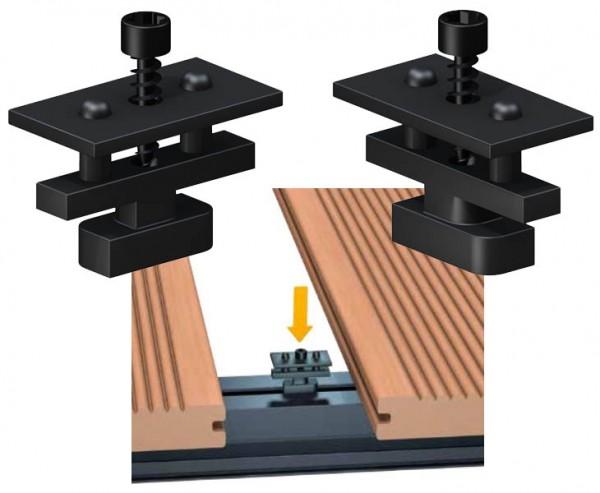 Clip für Terrassendielen Montage auf Alu Schiene 50-er Set, Systemclip für Dreamdeck Dielen