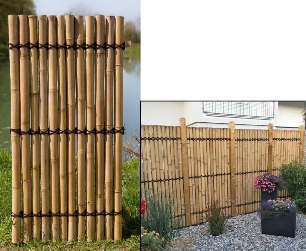 """Bambus Sichtschutzzäune """"Apas5"""" gelblich, 180 x 90cm"""