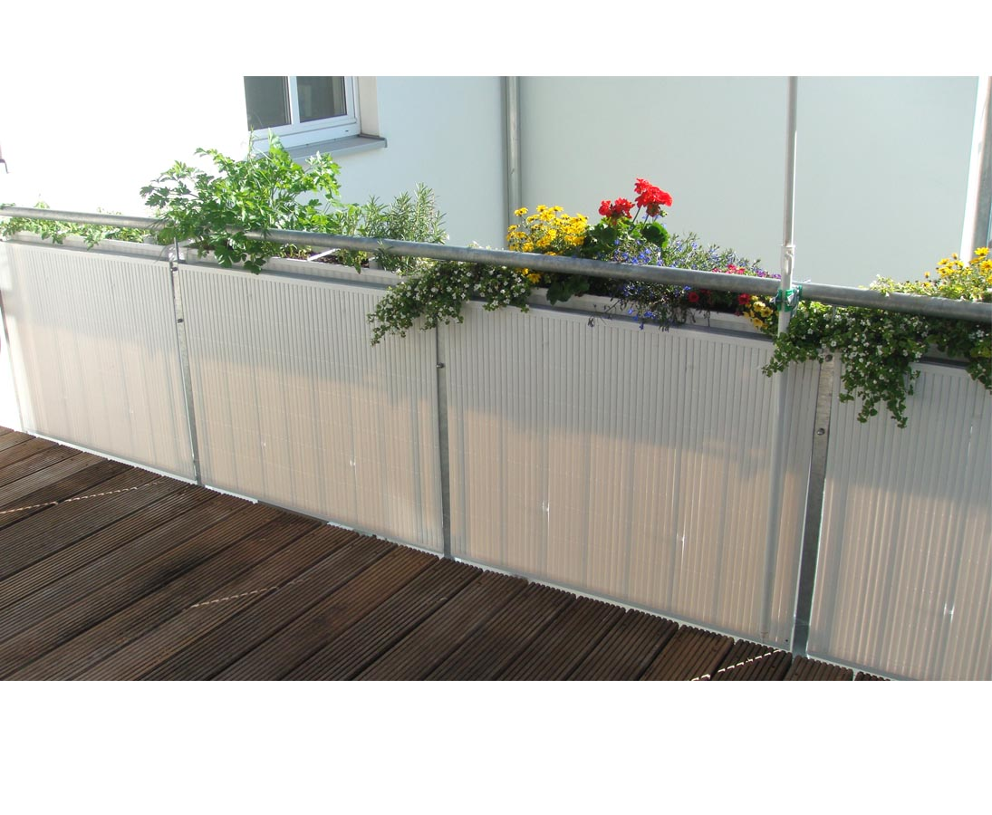 Balkon Sichtschutz Pvc 90x200cm Weiss Hier Bestellen