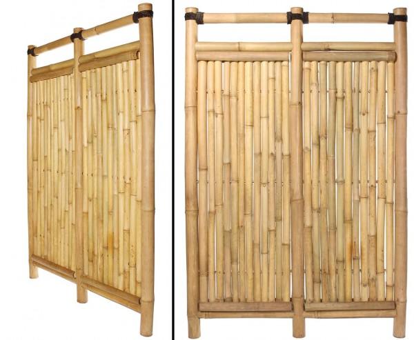"""Bambuswand """"Jakarta"""" mit 180x120cm starr aus Apus Bambus mit 6 bis 7cm"""