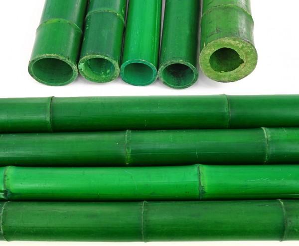 Bambus Rohre grün gefärbt mit Durch. 8,8 bis 11cm Länge 300cm