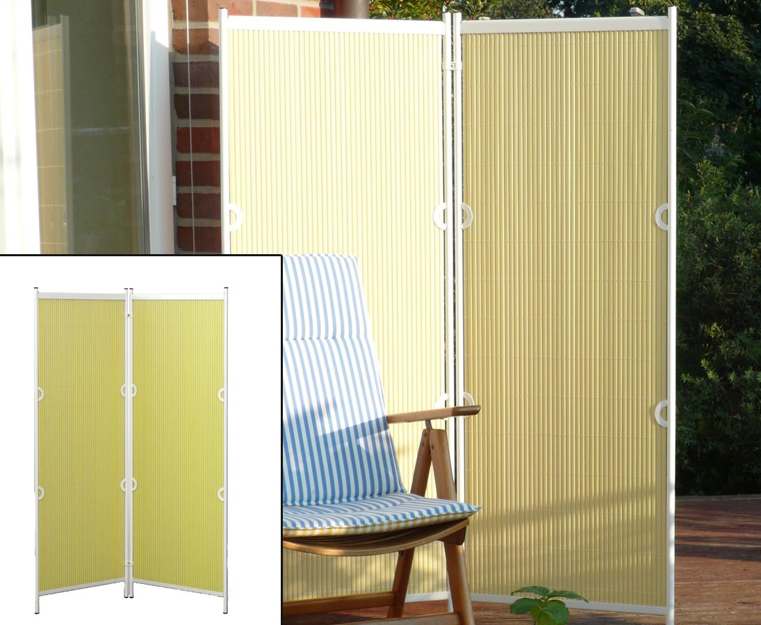 paravents als raumteiler 2teilig 160x120cm gelb kaufen. Black Bedroom Furniture Sets. Home Design Ideas