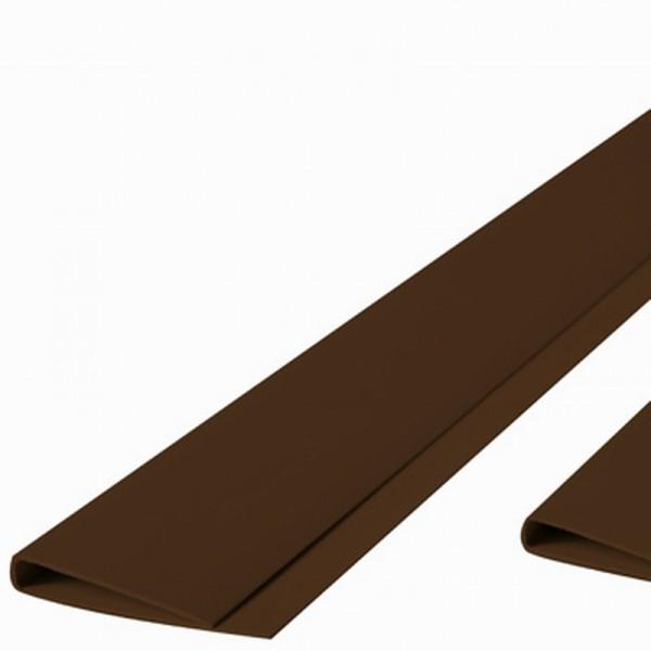 Abdeckprofil für Kunststoffmatten der eco Serie braun farbig, Länge 200cm