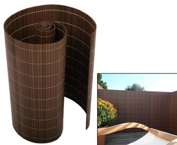 """Gartensichtschutz PVC """"Sylt"""" mit 120 x 300cm, nussbaum"""