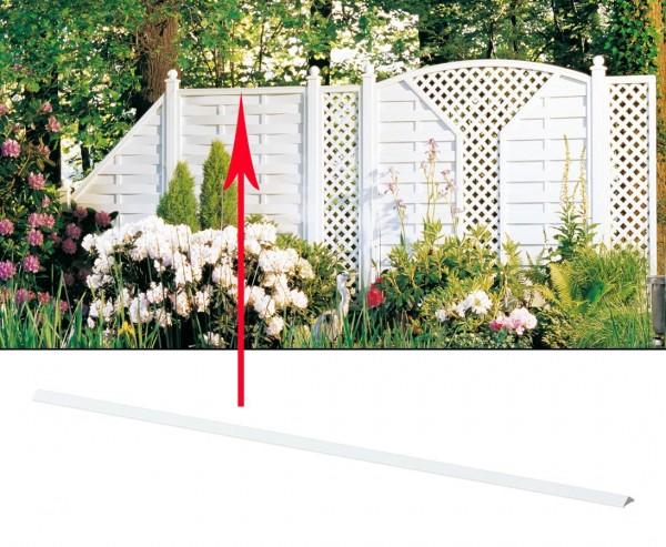 """Zaun Aufsatzleiste für """"Longlife"""" gerade 120cm"""