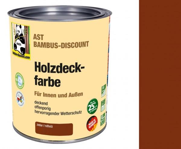 Holzfarbe zeder/rotholz 0,75 Liter Dose, Schutz vor Fäulnis und Schimmel