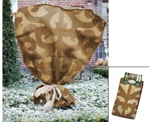 Winterschutz Jutesack, im Ornament Design, natur/ dunkel beige, Abmessungen ca. 80 x 60cm