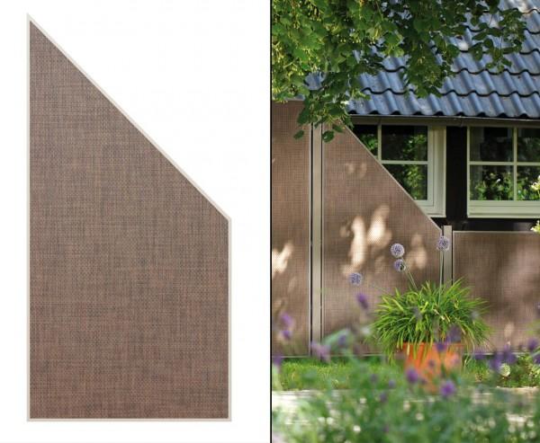 """Sichtschutz Abschluss """"Weave Lüx"""", Textil Bespannung 178 x 88cm, bronze"""