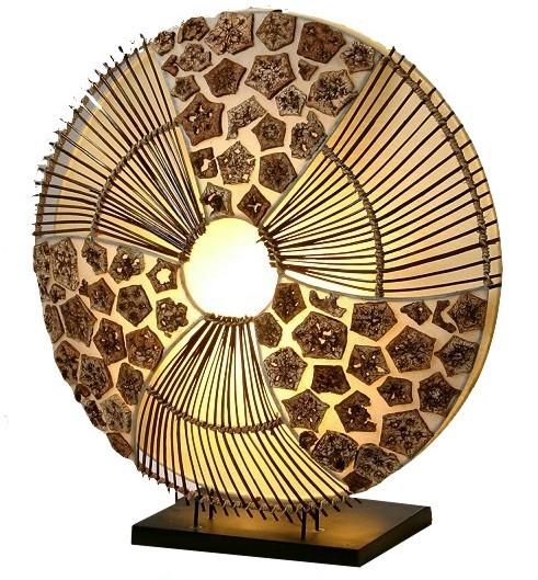 "Tischleuchte ""Lamei"" aus Naturmaterial, Höhe 40cm"