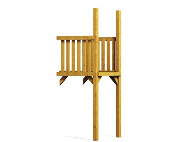 Holz Anbau für Basis Spielturm, Verlängerung aus Holz 101x113x290cm