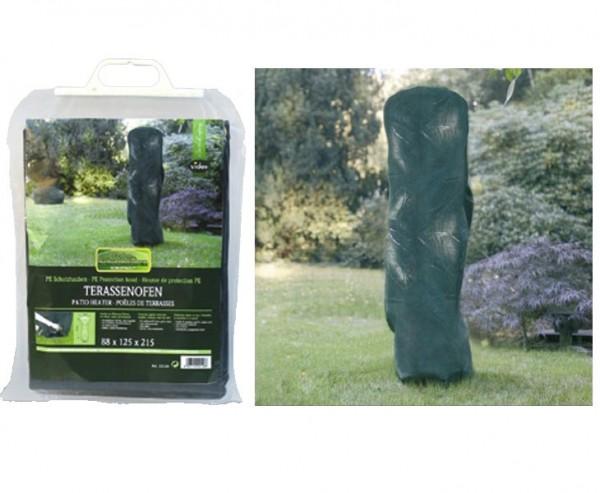 Schutzhaube für Terrassenofen, PE Material, 85x210cm und Durch.120cm, grün