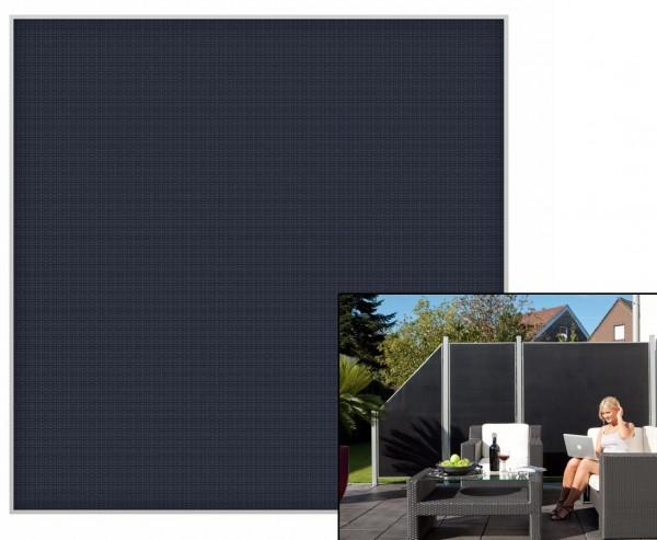 """Sichtschutzzaun """"Weave Lüx"""", Textil Bespannung 178x 178cm, anthrazit"""
