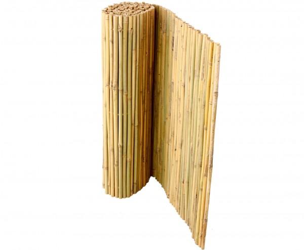 Bambusmatte Bali 100x300 cm mit Draht durchbohrt und verbunden