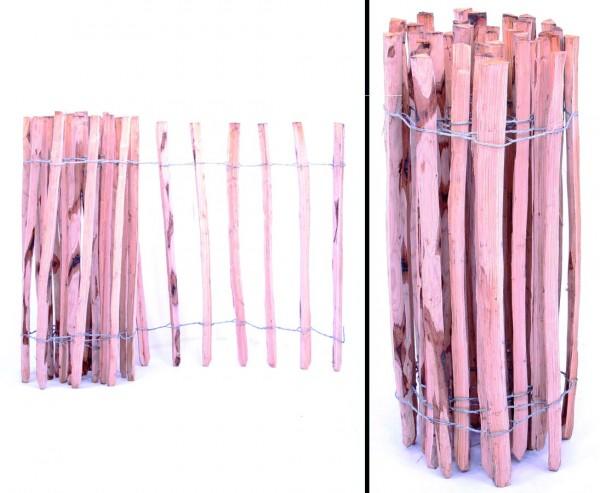 Zaun aus Kastanien-Staketen mit je ca. 3,5cm, 122 x 460cm