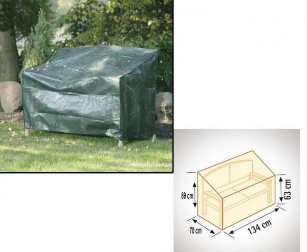 Schutzhülle für Gartenbank, geeignet für 2-Sitzer, PE Material grün, mit 134 x70cm und Höhe 63x89cm