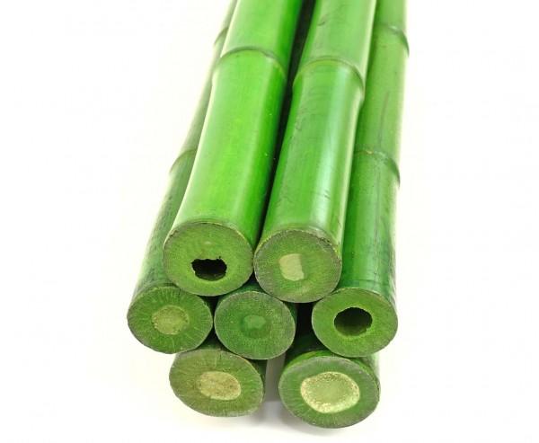 Bambusstab 200cm grün gefärbt mit 3,8 bis 5cm, Moso
