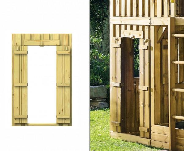 Kinderspielturm Wandelement mit Tür, 139x90cm