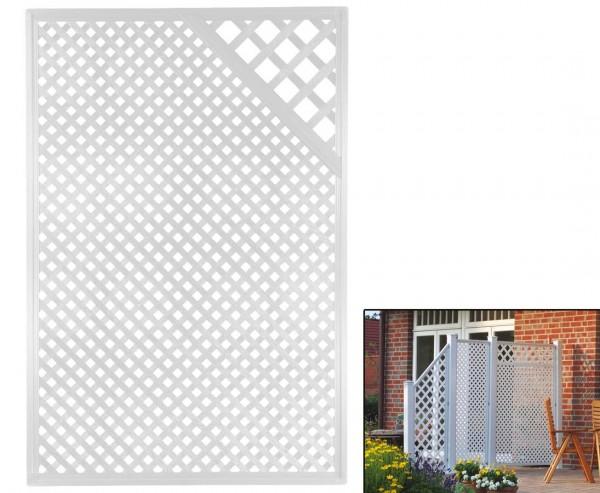 """Sichtschutz Coventry """"Diamant"""", mit Zierecke, 185 x 125cm, weiss"""