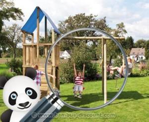 Hochwertige Spieltürme und das passende Zubehör von bambus-discount.com