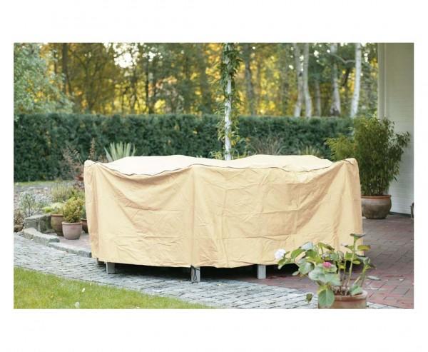 Abdeckhaube Gartenmöbel, für Tischgruppe rund, mit 80cm und einem Durch. von 250cm, beige-uni