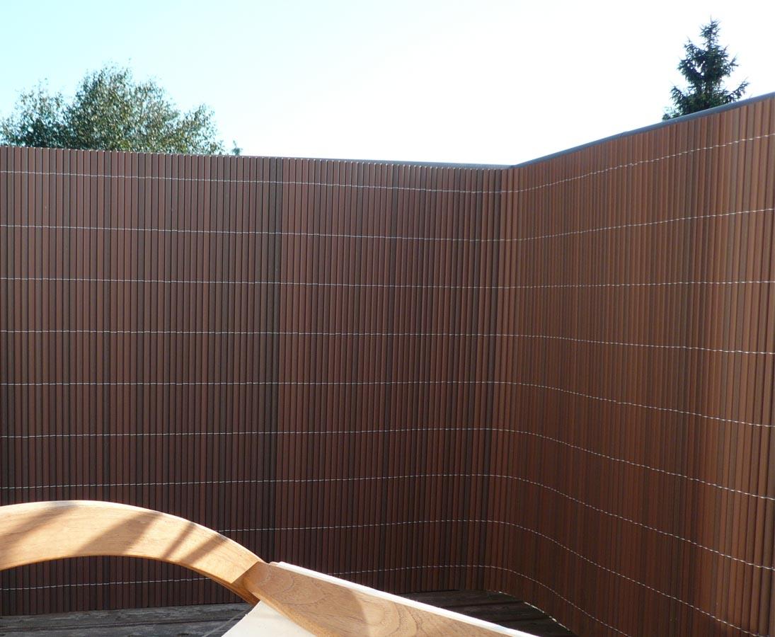 Terrassen Sichtschutz Pvc Sylt Mit 140 X 300cm Nussbaum Gunstig