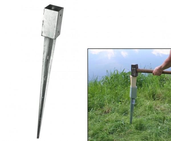 Einschlaghülsen für Zaunpfosten mit 7x7cm