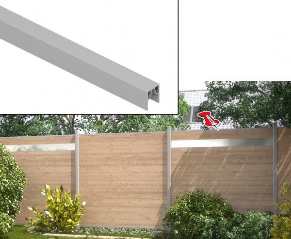 WPC System Abschluss oben silber 173,5cm