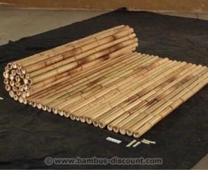 Bambusrollzaun hell von Bambus-Discount