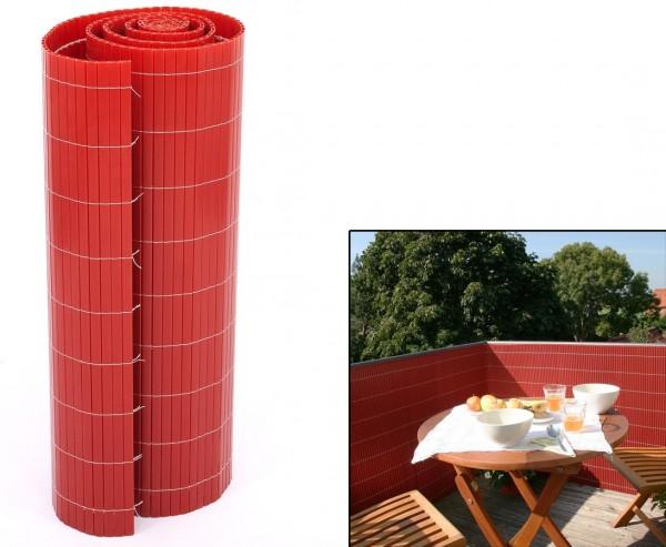 """Sichtschutzzaun PVC """"Sylt"""" mit 140 x 200cm, kirsch farbig"""