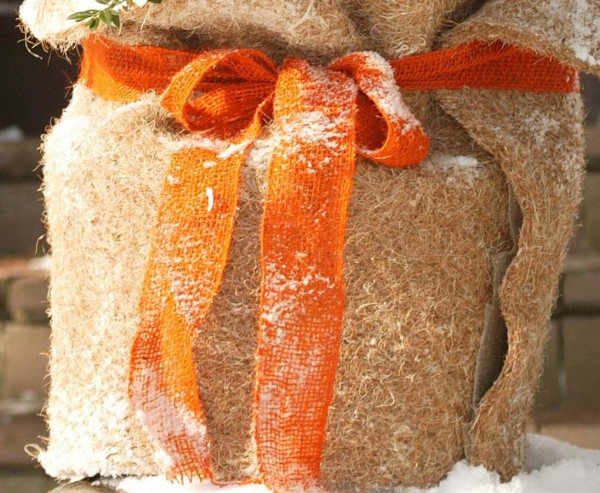 Dekoband orange, 18 x 1.000cm, zum verschnürren und dekorieren