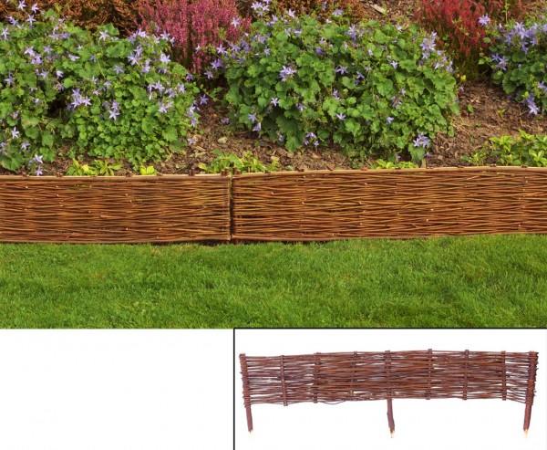 Beeteinfassungen, Wörthsee mit 100x 20cm aus Weide, mit Erdspieße ca. 15cm, natur