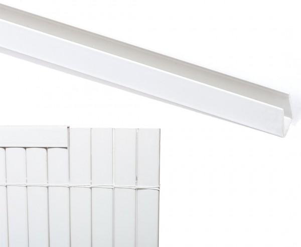 U- Profil für Kunststoffmatten weiss, Länge 150cm