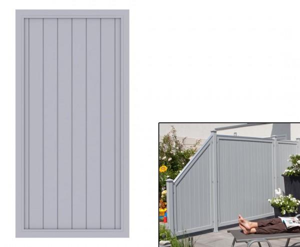 "Sichtschutzzaun grau, ""Longlife Riva, 180 x 90cm aus Kunststoff"