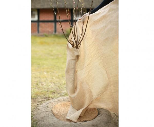 Winterschutz Jute Gewebe, mit 105 x 500cm, naturbelassen, zum einwickeln von Pflanzen
