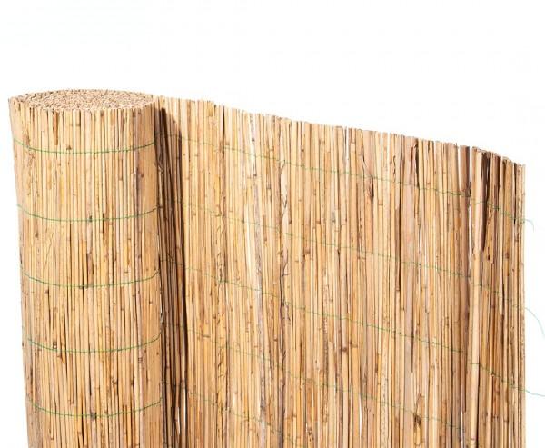 """Schilfrohrmatte """"Bambussi"""" 140 x 600cm mit grünem Draht"""