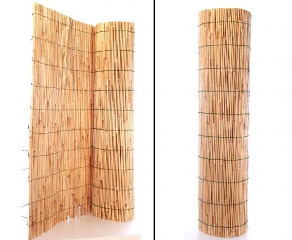 """Sichtschutz Bambusmatte """"Hongkong"""" 100 x 300cm geschält"""