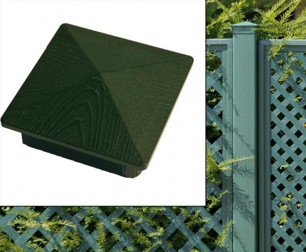 Abschlusskappe grün für Pfosten Sichtschutz Coventry