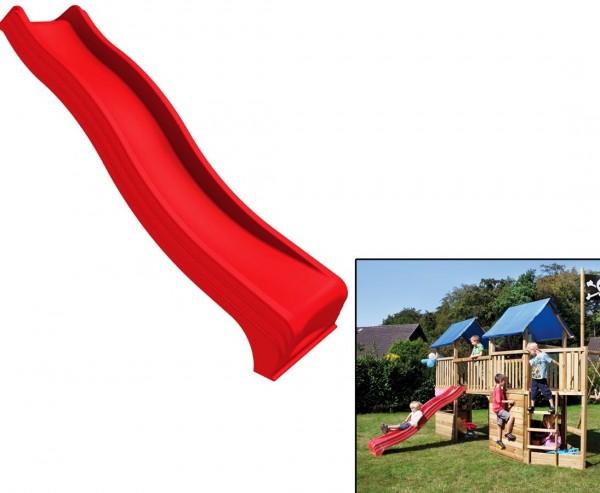 Wellenrutsche aus Kunststoff für Spielturm, rot Länge 235cm