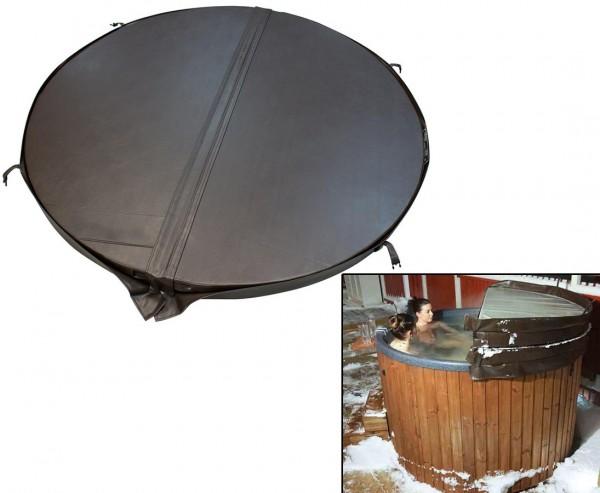 Isolierter Deckel für Badefässer Durchmesser 184cm Kaffeefarben