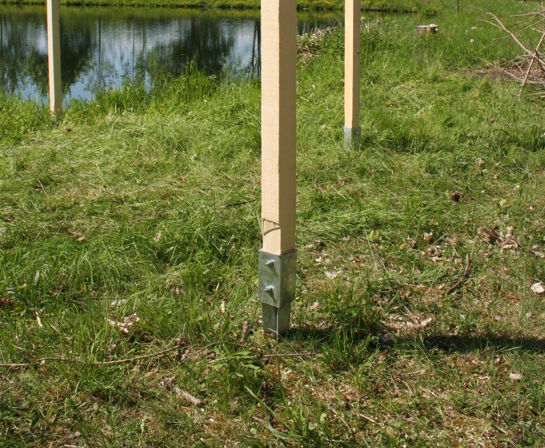 Einschlaghulsen Fur Zaunpfosten Mit 7x7cm Gunstig Kaufen