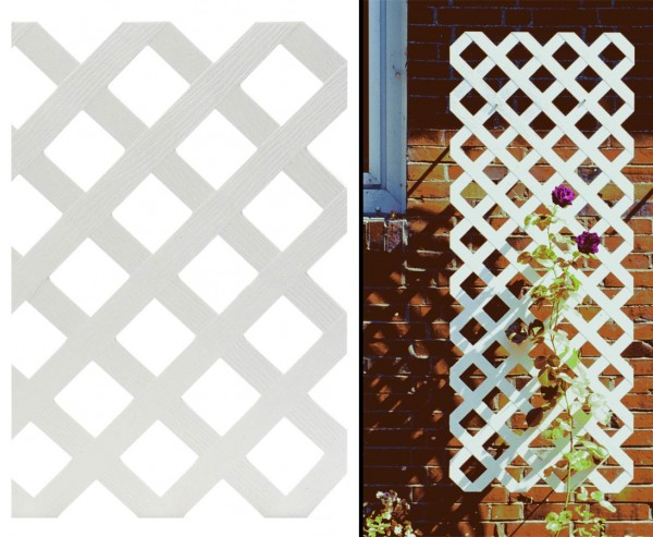 "Sichtschutz Coventry, ""Diamant"", ohne Rahmenprofil, 180 x 120cm, weiss"
