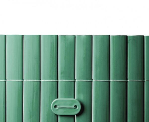Befestigungsset für PVC Sichtschutzmatten grün, 26 Stück