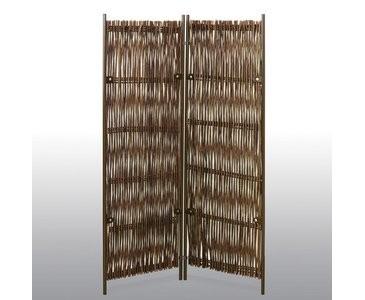 """Raumteiler 2teilig, """"Skagen"""" 180 x 190cm Weide natur"""