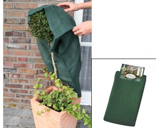 Jutesack für Pflanzen im Winter mit 230g/qm, Höhe 110cm, Breite 60cm