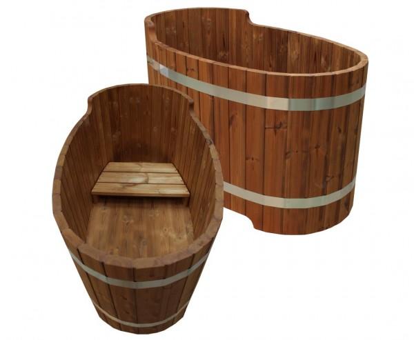Holz Badewanne mit Sitzbank, Set2