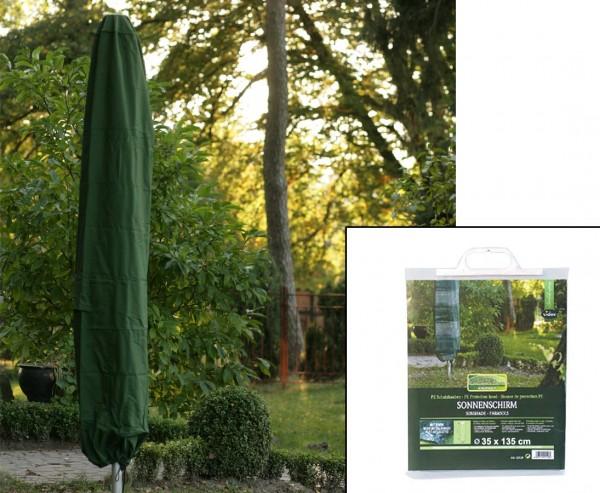 Gartenmöbel Schutzhülle, für Sonnenschirme, mit 135cm und einem Durch. von 35cm, grün