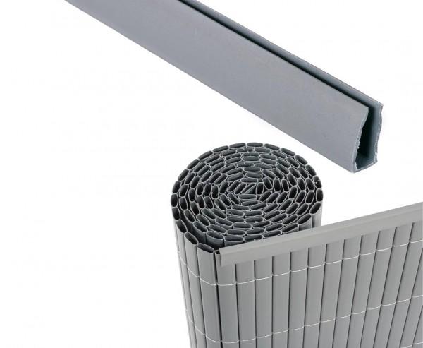 Abschlusskante U-Profil, Länge 150cm, für Sylt und Rügen,aluminium/silber