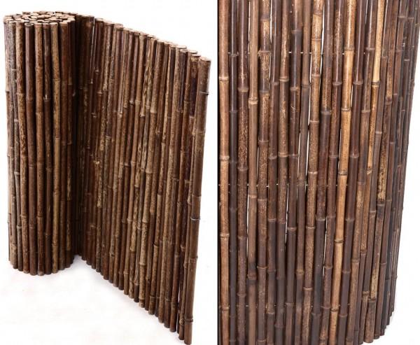 Bambusmatte schwarz mit 100x250 cm, Ø Bambusstäbe ca. 24mm